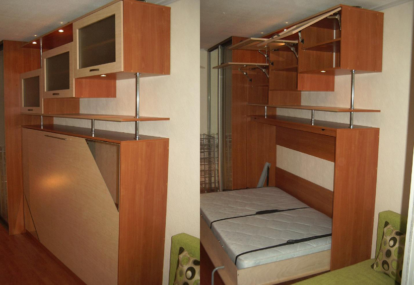 Откидная кровать встроенная в шкаф своими руками чертежи
